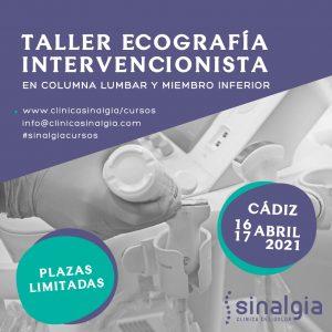 Taller ecografía intervencionista en columna lumbar y miembro inferior Sinalgia Cádiz 001