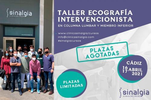 Taller Ecografía Intervencionista en Columna Lumbar y Miembro inferior Plazas Agotadas